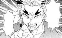 Shinjuro identifies Tanjiro as a Sun Breathing user