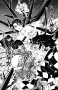 Demon Slayers attacking Muzan CH 139