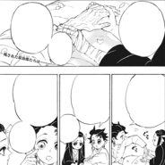 Tanjiro and Nezuko talk about Tanjiro's hand and eye CH204