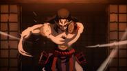 Kyogai using rapid drumming