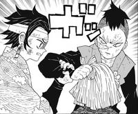 Tanjiro stopping Genya
