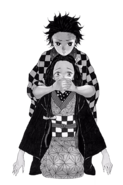 Tanjiro and Nezuko Advert Illustration