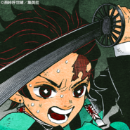 Tanjiro colored profile 2
