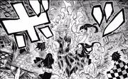 Nezuko setting Tengen on fire