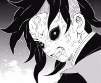 Genya's demonfied face CH113