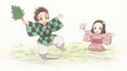 Tanjiro and Nezuko as children