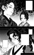Yoriichi's first encounter with Muzan and Tamayo CH186