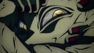 Hand Demon grinning after recognizing Tanjiro's mask