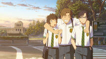 Shinta, Taki and Tsukasa