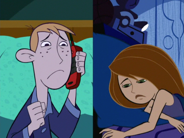 Image - Ill-Suited Ron-calls-Kim.png | Kim Possible Wiki ... Ким Пять с Плюсом Рисунки