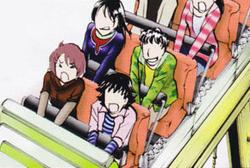金田一與舊同學一起乘坐過山車