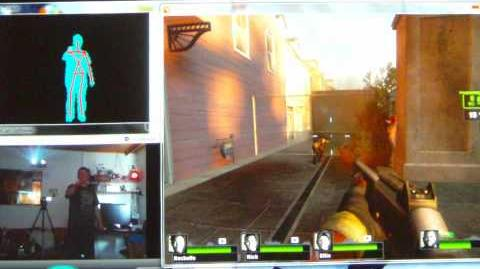 Left 4 Dead 2 - V0.6 (2010-01-17) - full playable FPS only with Kinect (FAAST) control on PC
