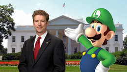 Luigi meets with United States President --Rand Paul--