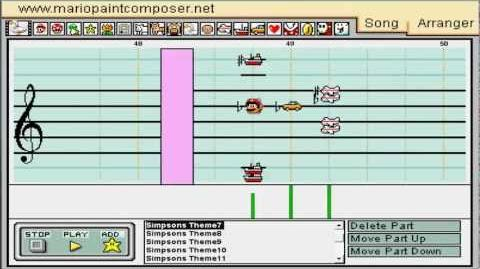 ♪The Simpsons Theme♪ Mario Paint Composer