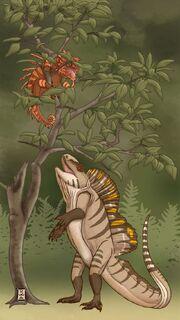 Darren naish s squamozoic sailback chalarodon by raven amos-d7p5vbk
