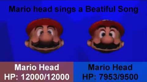 YTP Mario Head Fights Himself