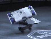 Saber-X attempted flip on Rocket