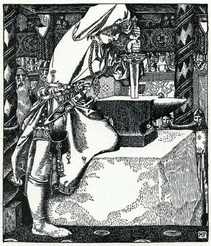 File:Howard-Pyle - How Arthur drew forth ye sword.JPG