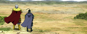 Haku Ki Sai And Ren Pa Gaze On The Battle On Rui Plains anime S2
