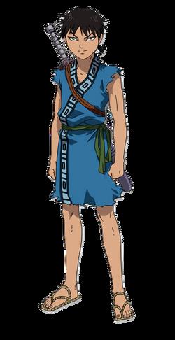 Shin Character Design anime S1