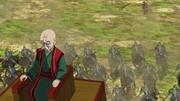 Shin Throws A Spear Towards Gen Bou anime S2