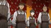 Shin And Kyou Kai Disguise As Palace Guards anime S2