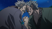 Den Ei Versus Hai Rou In An Arm Wrestling anime S2