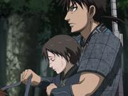 Shu Rides Shin's Horse With Shin anime S2