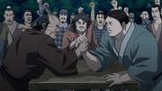 Ryuu Sen Versus Den Yuu In An Arm Wrestling anime S2