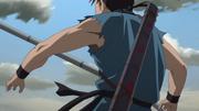 Ou Hon Strikes Shin With A Reverse Thrust anime S2