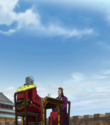 Kei Bin And Ren Pa Chat With Each Other Above The Dairyou's Wall anime S2