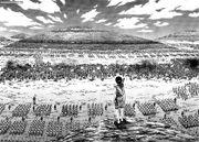 Shin gazing at the battlefield