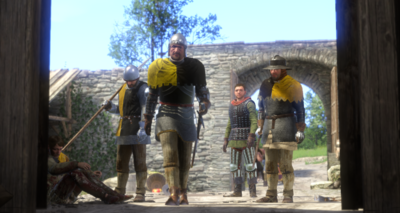The Rattay soldiers enter Neuhof