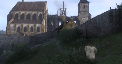 Henry and Pious flee the Monastery