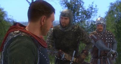 Morcock's thugs surround Henry