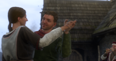 Theresa teaches Henry to dance