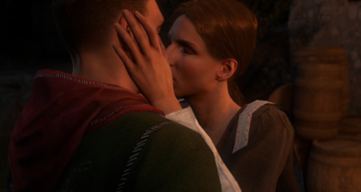 Theresa kisses Henry