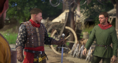Sir Radzig lets Henry try the sword