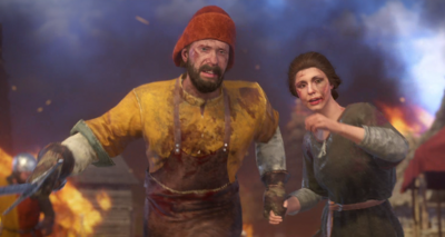 Henry's parents attempt to flee the invading army