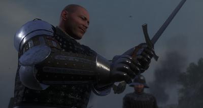 Runt admires Henry's sword