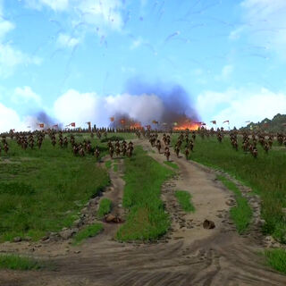 Cuman cavalry starting the charge