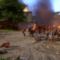 Start of the massacre