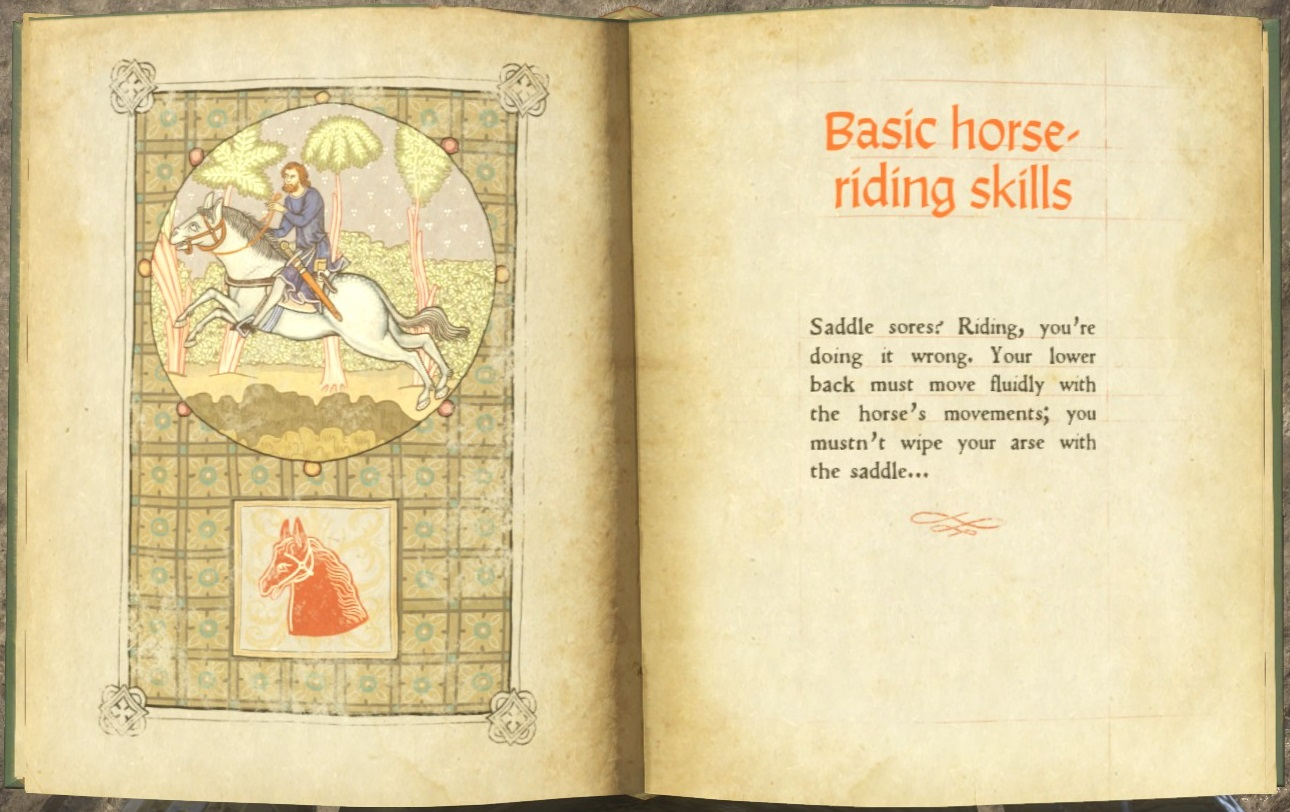 Basic horse-riding skills (book) | Kingdom Come: Deliverance Wiki