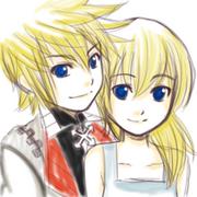 KH random doodle of RokuNami by najwah namine