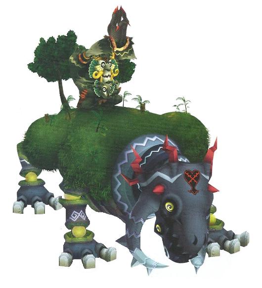 Giant Kingdom Hearts 2 Scar Boss