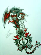 Hollowed Evil Keyblade by ExusiaSword