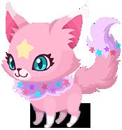 Ein Pink Kitstar Geist-Traumfänger Begleiter in Kingdom Hearts Union χ