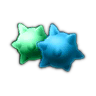 Konfetti-Bonbons 3D
