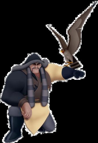 Shan-Yu mit seinem Falken Hayabusa in Kingdom Hearts II