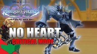 KINGDOM HEARTS Birth By Sleep Final Mix - Ventus vs. No Heart (Critical Mode)